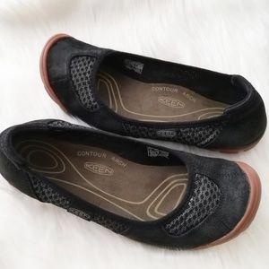 Keen Mercer CNX Ballerina Flat Leather Sport Shoe
